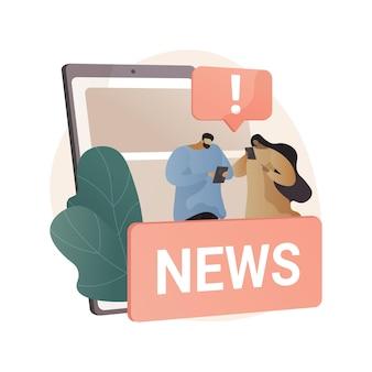 Ogranicz ilustrację abstrakcyjnej koncepcji spożycia wiadomości