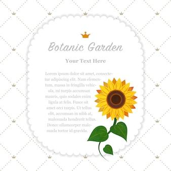 Ogród botaniczny słonecznik ramki