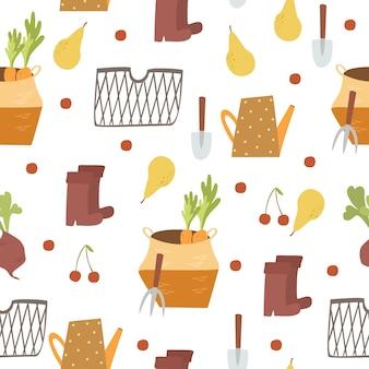 Ogród jesień wzór