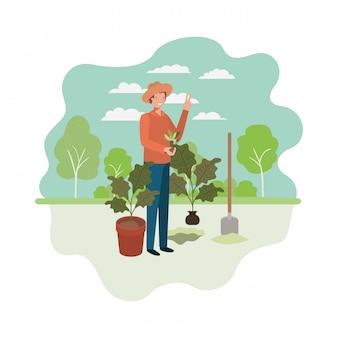 Ogrodnicy z charakterem awatara krajobrazu