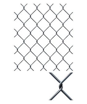 Ogrodzenie łańcuchowe. ilustracja 3d