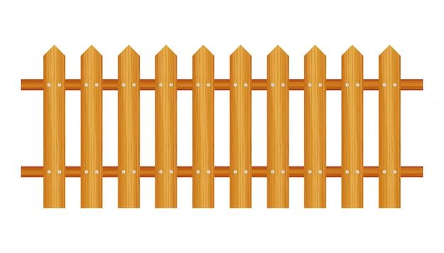 Ogrodzenie pikowane, drewniane teksturowane, zaokrąglone krawędzie.