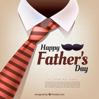 Ojca dzień tło z krawatem