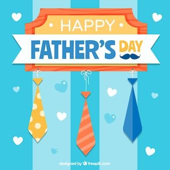 Ojców dzień tło z krawatów