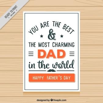 Ojcowie Dzień Kartkę Darmowych Wektorów