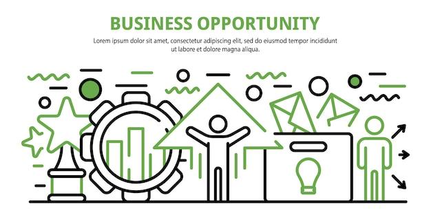 Okazja biznesowa koncepcja transparent, stylu cartoon