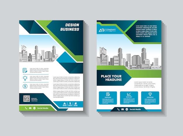 Okładka abstrakcyjna i układ do prezentacji i marketingu