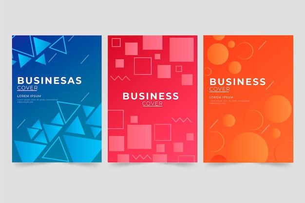 Okładka biznesowa geometryczna