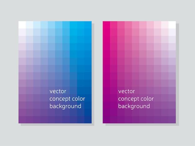 Okładka broszury abstrakcyjne pojęcie geometrii z kształtów szlagon.