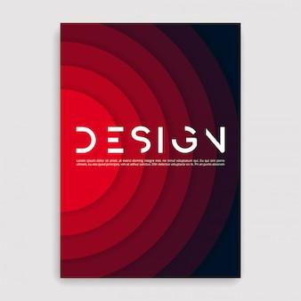 Okładka broszury geometryczna. szablon rozmiaru.