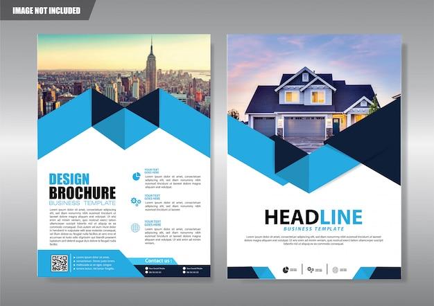 Okładka broszury ulotki lub broszury roczne sprawozdanie z działalności