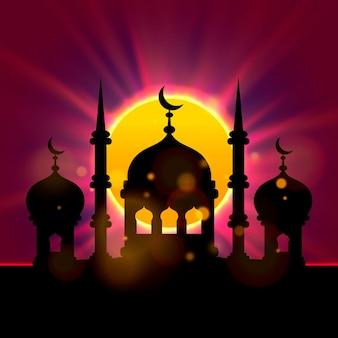 Okładka eid mubarak, islamski piękny szablon projektu, plakat ramadan kareem. ilustracja wektorowa