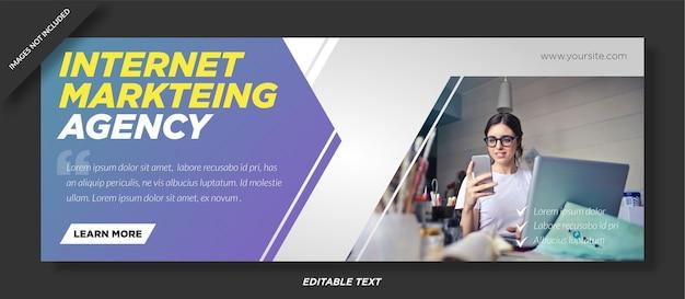 Okładka facebooka agencji marketingu internetowego