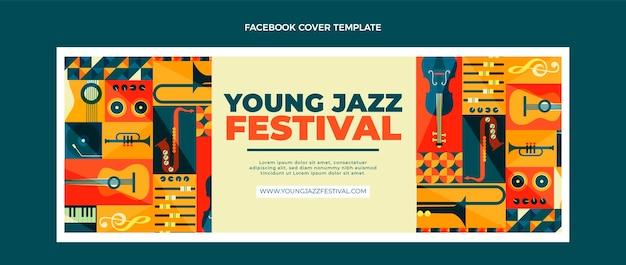 Okładka festiwalu muzyki z płaskiej mozaiki na facebooku