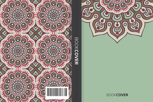Okładka książki z projektem elementu mandali