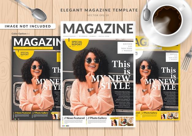 Okładka magazynu fashion woman