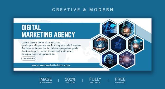 Okładka mediów społecznościowych i szablon wektora banera internetowego