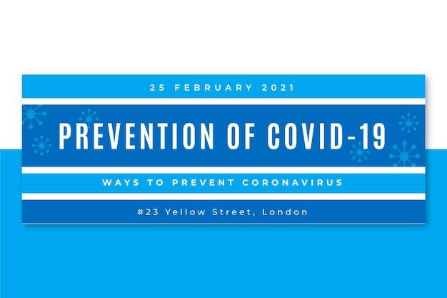 Okładka mediów społecznościowych z siatką koronawirusa