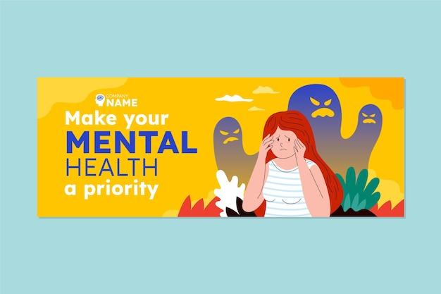 Okładka na facebooku dotycząca zdrowia psychicznego