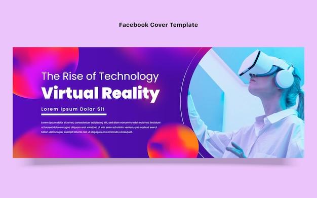 Okładka na facebooku w technologii gradientowej płynnej