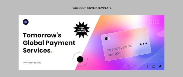 Okładka na facebooku w technologii gradientowej tekstury