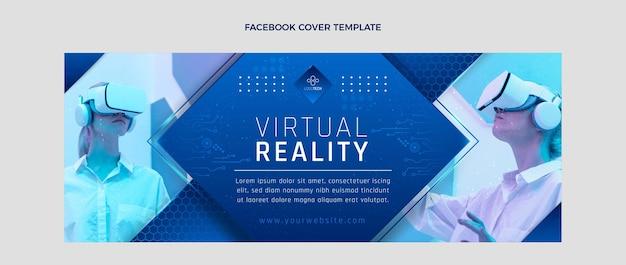 Okładka na facebooku z gradientową teksturą