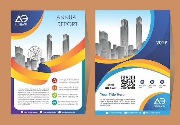 Okładka nowoczesny układ broszura biznes lub szablon ulotki
