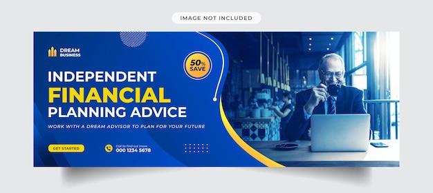 Okładka osi czasu i szablon banera na facebooku agencji marketingu cyfrowego