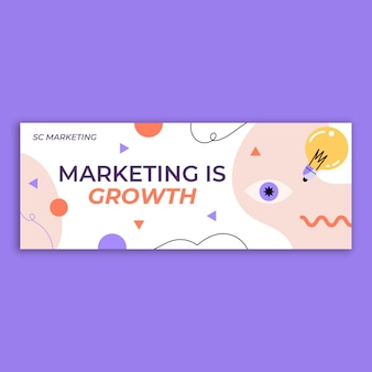 Okładka profilu facebookowego specjalisty ds. marketingu creative sc