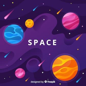 Okładka przestrzeni kosmicznej