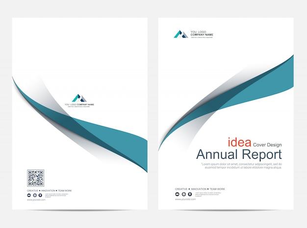 Okładka raport roczny szablon projektu układu