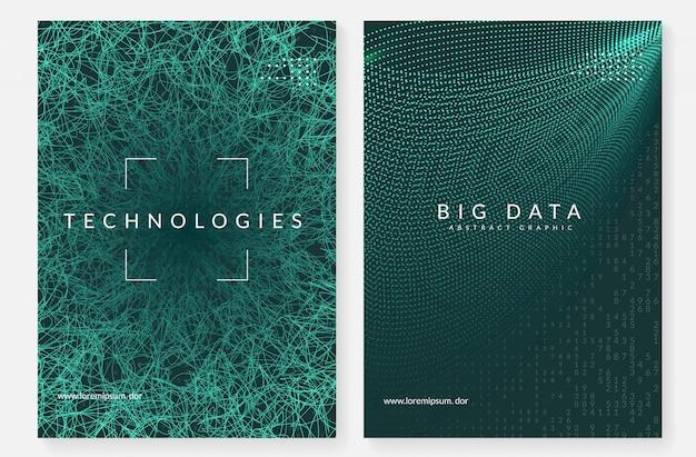 Okładka streszczenie technologii cyfrowej. koncepcja sztucznej inteligencji, głębokiego uczenia się i dużych zbiorów danych.