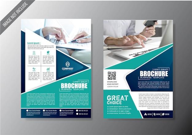 Okładka ulotka i szablon biznes broszura dla rocznego raportu