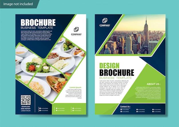 Okładka ulotki lub broszury w tle