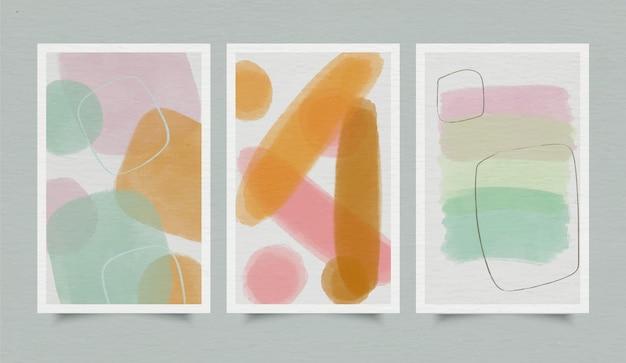 Okładka zestaw abstrakcyjnych kształtów