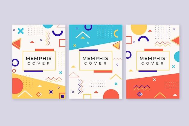 Okładki projektowe memphis