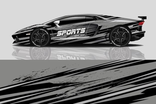 Oklejanie naklejek na samochód sportowy
