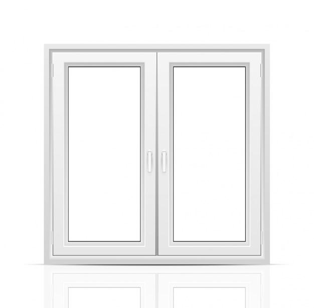 Okno na białym tle.