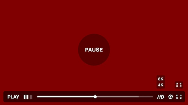 Okno odtwarzacza wideo z panelem menu i przycisków
