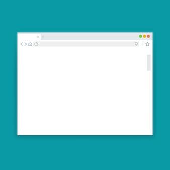 Okno przeglądarki, szablon wektor puste strony internetowej