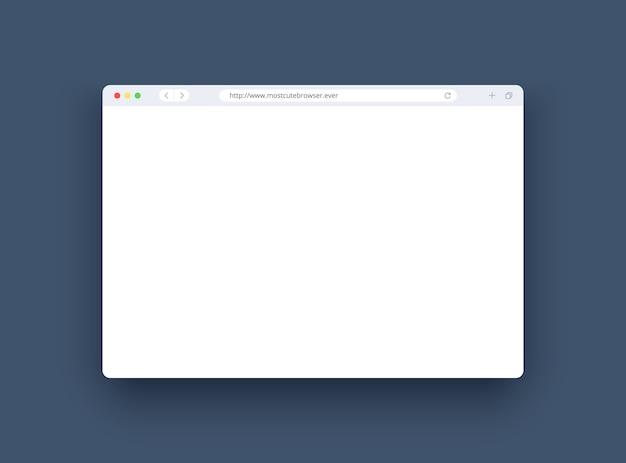 Okno przeglądarki w nowoczesnym stylu f