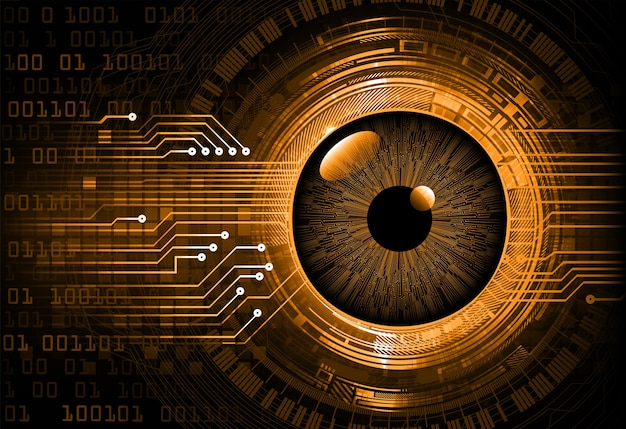 Oko cyber obwód koncepcja technologii przyszłości