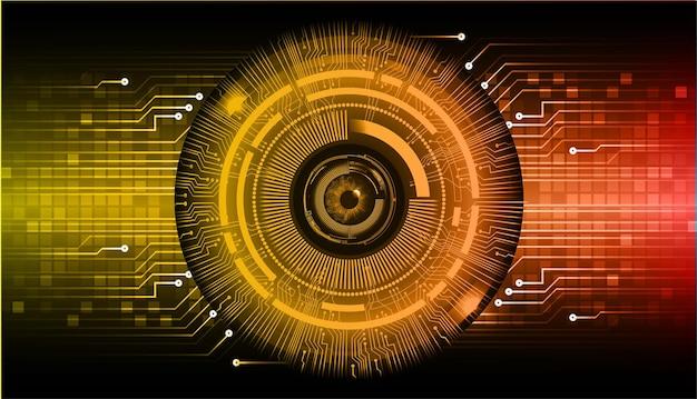 Oko cyber obwód przyszłości technologia tło