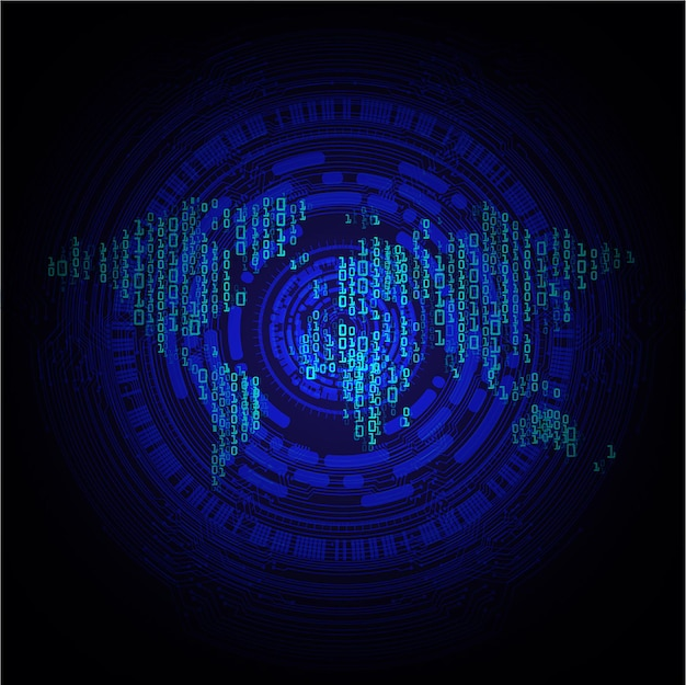 Oko cyber obwodu przyszłej koncepcji technologii tło