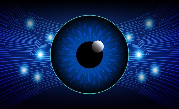 Oko cyber obwodu przyszłości koncepcja technologii tła