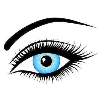 Oko, na białym tle, moda, ilustracje wektorowe