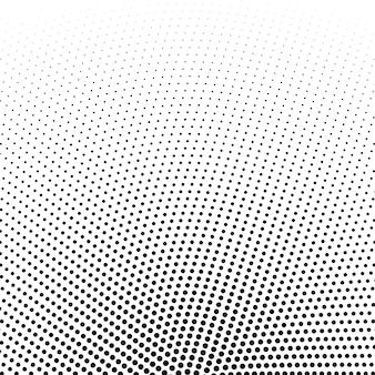 Okrągły półtonów kropkuje wektorowego tło