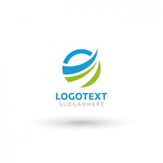Okrągły szablon logo Wave