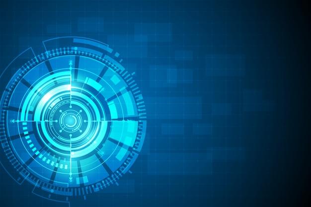 Okrąg błękitny abstrakcjonistyczny technologii innowaci pojęcia tło