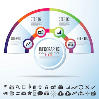 Okrąg infographics projekt szablonu